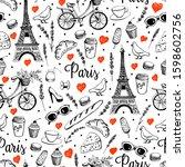 Paris City Romance. Vector...