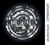 unusually grey camo emblem.... | Shutterstock .eps vector #1598605669
