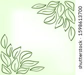hand drawing. green leaves....   Shutterstock .eps vector #1598613700