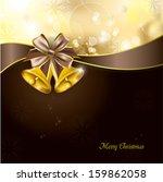 golden bells. christmas... | Shutterstock .eps vector #159862058