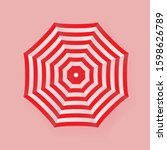 3d Beach Umbrella Icon Vector....