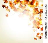 maple autumn leaves background... | Shutterstock .eps vector #159862823