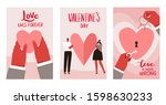 set of cards about love for st. ... | Shutterstock .eps vector #1598630233