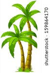 illustration of the two palm... | Shutterstock .eps vector #159864170