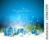 christmas greeting card with... | Shutterstock .eps vector #159867290