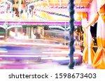 Colourful Roundabout At Funfai...