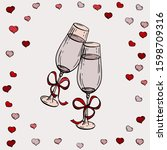 Vector Festive Glasses With...