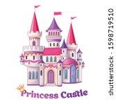 beautiful fairytale castle for... | Shutterstock .eps vector #1598719510