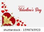 happy valentine's day. romantic ... | Shutterstock .eps vector #1598765923
