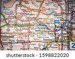 tulsa usa map  background....   Shutterstock . vector #1598822020