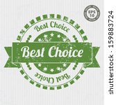 best choice vintage stamp with... | Shutterstock .eps vector #159883724
