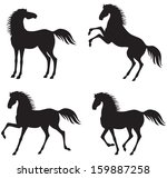 set of silhouettes of a... | Shutterstock . vector #159887258
