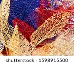 beautiful colorful dried leaves ...   Shutterstock . vector #1598915500