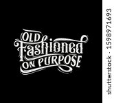 typography text old fashioned... | Shutterstock . vector #1598971693