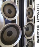 Small photo of Five Bombastic Speakers texture background
