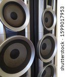 Small photo of Bombastic sound system texture background
