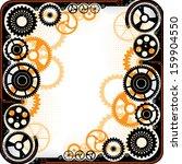 mechanical cog wheel frame.... | Shutterstock .eps vector #159904550