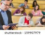 portrait of an elegant teacher... | Shutterstock . vector #159907979