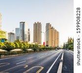 empty street in modern city | Shutterstock . vector #159908228