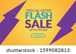 flash sale discount banner...   Shutterstock .eps vector #1599082813