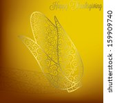 filigree corn thanksgiving card ... | Shutterstock .eps vector #159909740