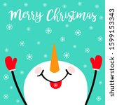 Merry Christmas. Snowman...