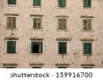 a facade of croatian building...   Shutterstock . vector #159916700