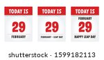 happy leap day or leap year... | Shutterstock .eps vector #1599182113