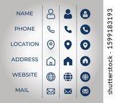 name phone location  address ... | Shutterstock .eps vector #1599183193
