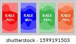 sale flyers. set of vintage...   Shutterstock .eps vector #1599191503