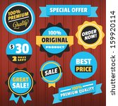 set of vector badges stickers... | Shutterstock .eps vector #159920114