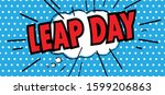 happy leap day or leap year...   Shutterstock .eps vector #1599206863