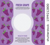 grape fruit banner with big... | Shutterstock .eps vector #1599212800
