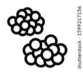 caviar heaps icon vector.... | Shutterstock .eps vector #1599217156