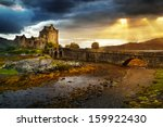 eilean donan  castle in uk | Shutterstock . vector #159922430