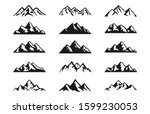 mountain silhouettes clipart... | Shutterstock . vector #1599230053