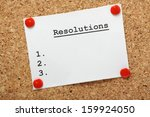 a blank list of resolutions for ... | Shutterstock . vector #159924050