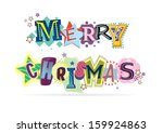 merry christmas lettering... | Shutterstock .eps vector #159924863
