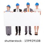 group of architects in a row... | Shutterstock . vector #159929108