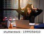 Blur Image Businesswoman Is...