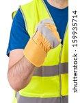 blue collar worker.  | Shutterstock . vector #159935714