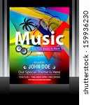 colorful music flayer design... | Shutterstock .eps vector #159936230