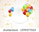 illustration of a banner with... | Shutterstock .eps vector #1599377023