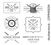 set of vintage tailor labels... | Shutterstock .eps vector #159940034