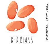 red beans vector set  isolated...   Shutterstock .eps vector #1599401569