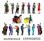 Jazz Musicians With Instrument...