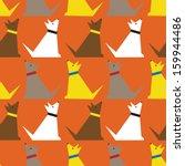 Dogs Seamless Pattern.  ...