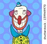 Skinny Cartoon Clown With A...