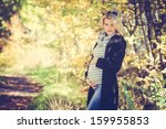 beautiful pregnant women is... | Shutterstock . vector #159955853
