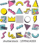 90's pop memphis design...   Shutterstock .eps vector #1599614203